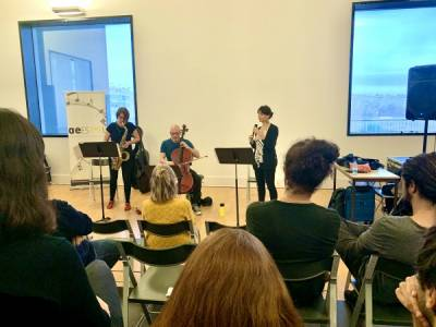 "Improvisation Masterclass with the Sara Serpa Trio: ""Close Up"""